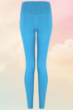 Womens Core Turquoise Gym Leggings Back