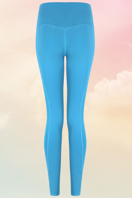 Womens Core Turquoise Gym Leggings Back