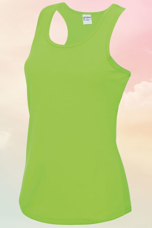 Womens Electric Green Cool Vest