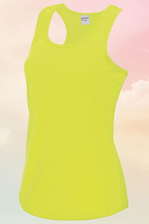 Womens Electric Yellow Cool Vest