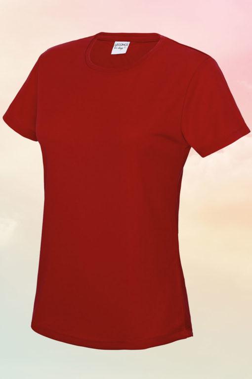 Womens Fire Red Cool T-Shirt