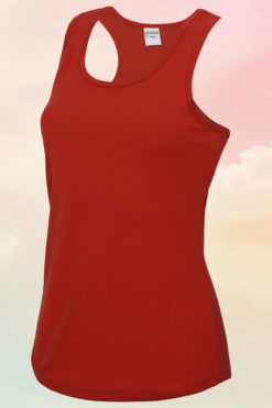 Womens Fire Red Cool Vest