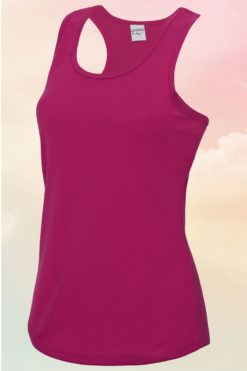 Womens Hot Pink Cool Vest