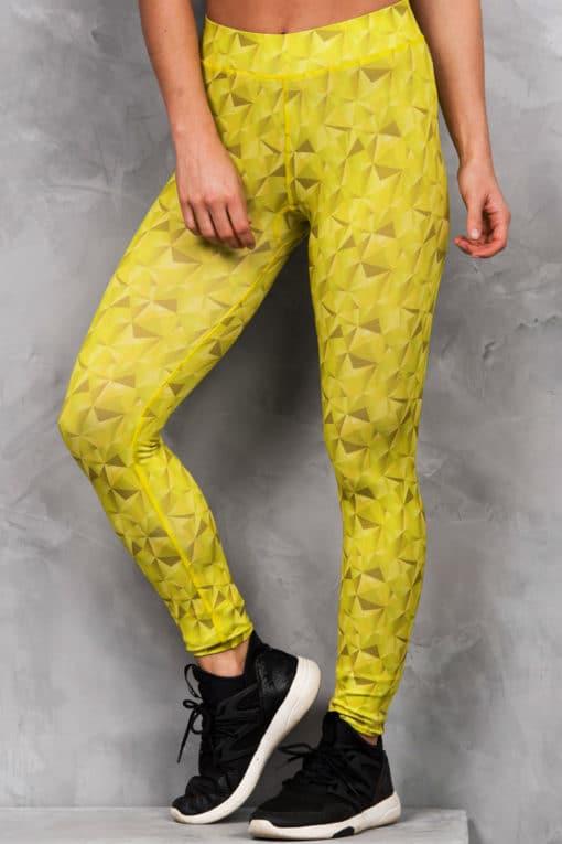 Womens Kaleidoscope Lime Funky Gym Leggings