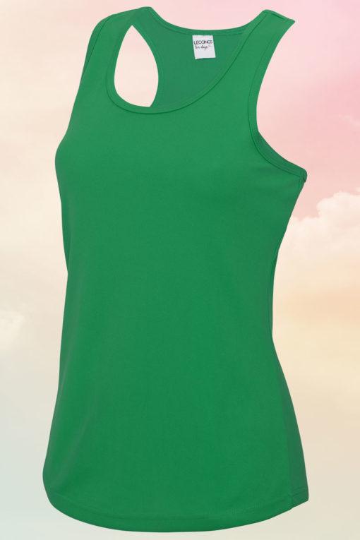 Womens Kelly Green Cool Vest