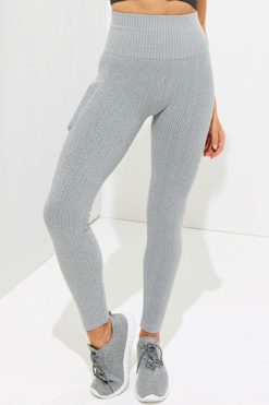 Womens Knitted Heather Grey ActiveLife Leggings