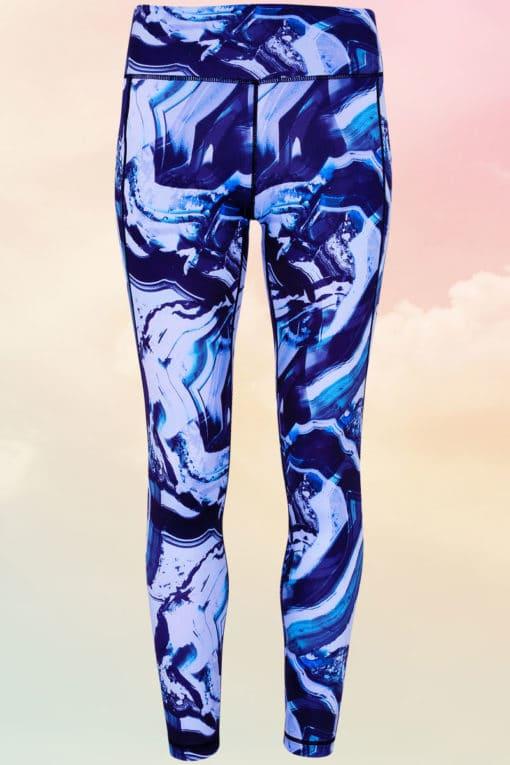 Women's Performance Black/Blue Marble Leggings
