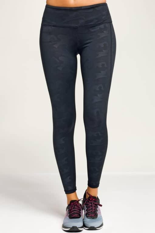 Women's Performance Black Camo-Leggings