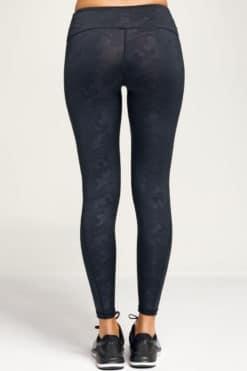 Women's Performance Black Camo Leggings Back