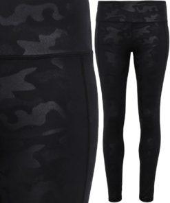 Womens Performance Black Camo Leggings Full Length