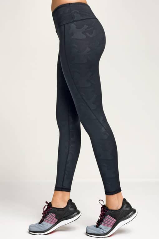 Women's Performance Black Camo Leggings Side