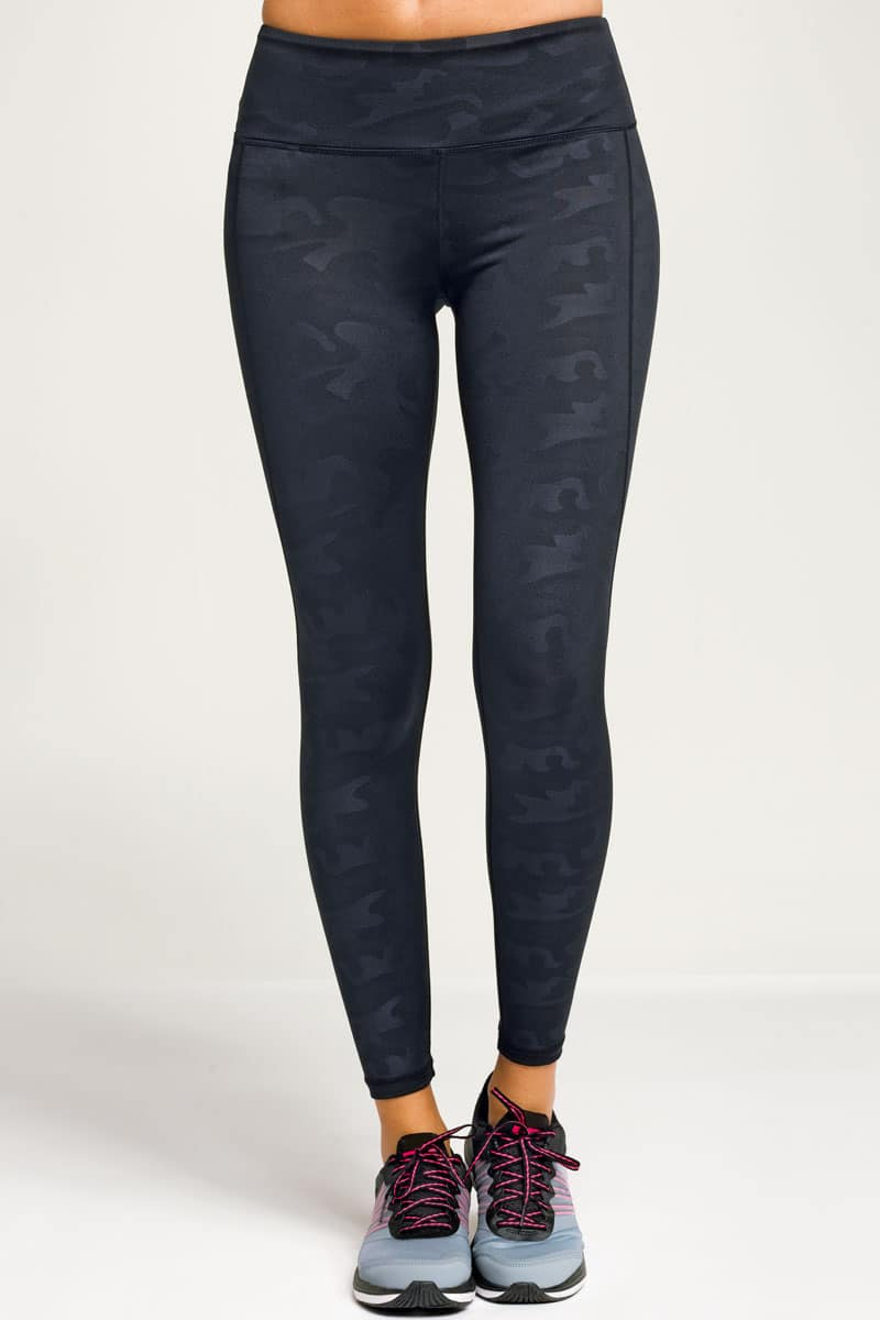 Women's Performance Black Camo-Leggings