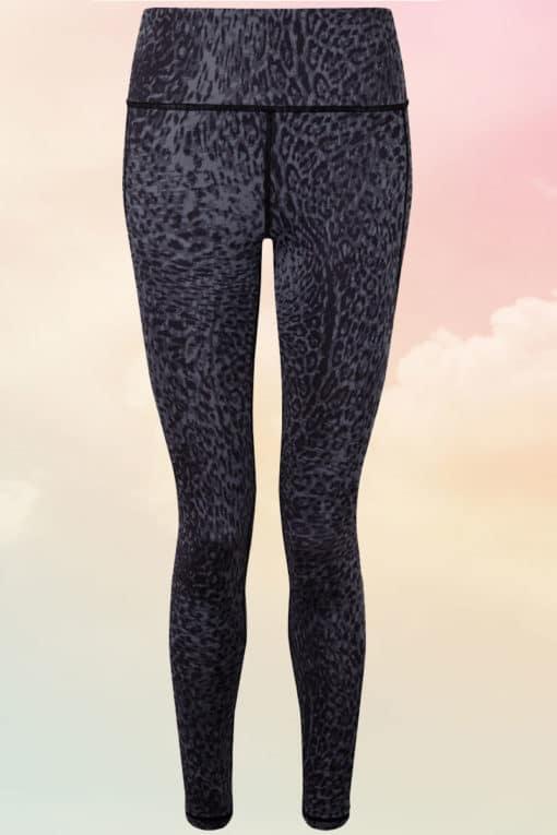 Women's Performance Black Leopard Print Leggings
