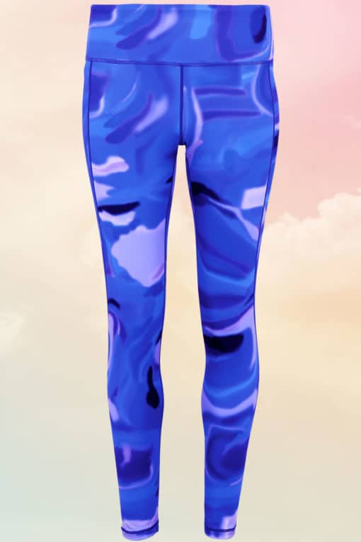 Women's Performance Blue Aurora Leggings