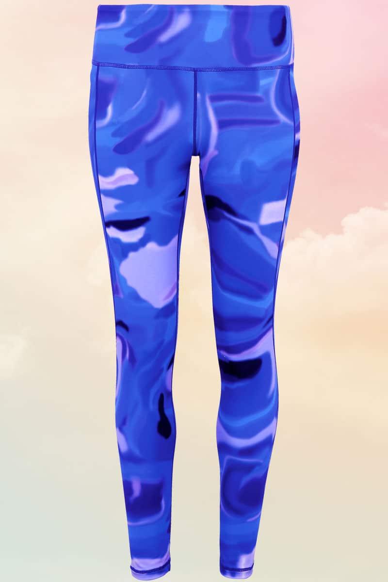 Women's Blue Aurora Funky Gym Leggings - Leggings For Days
