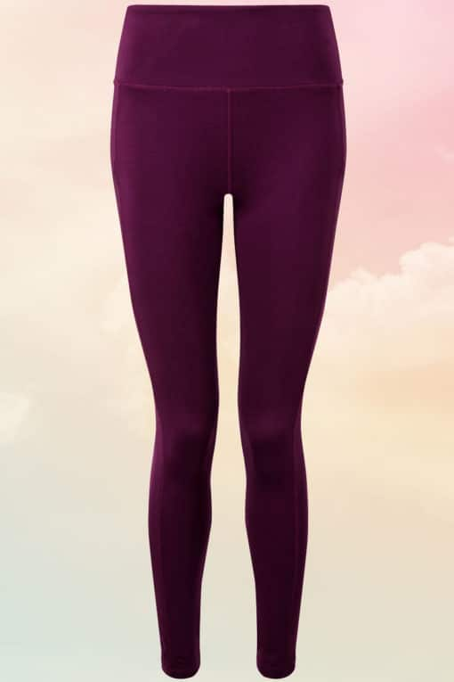 Women Performance Compression Mulberry Leggings