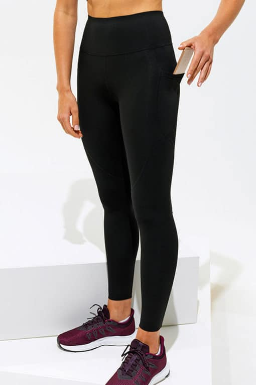 Womens Performance Hourglass Black Gym Leggings