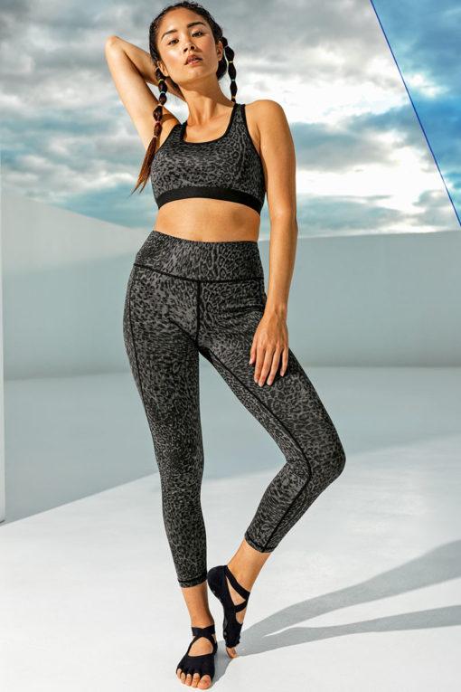 Women's Performance Leopard Print Leggings Matching Top