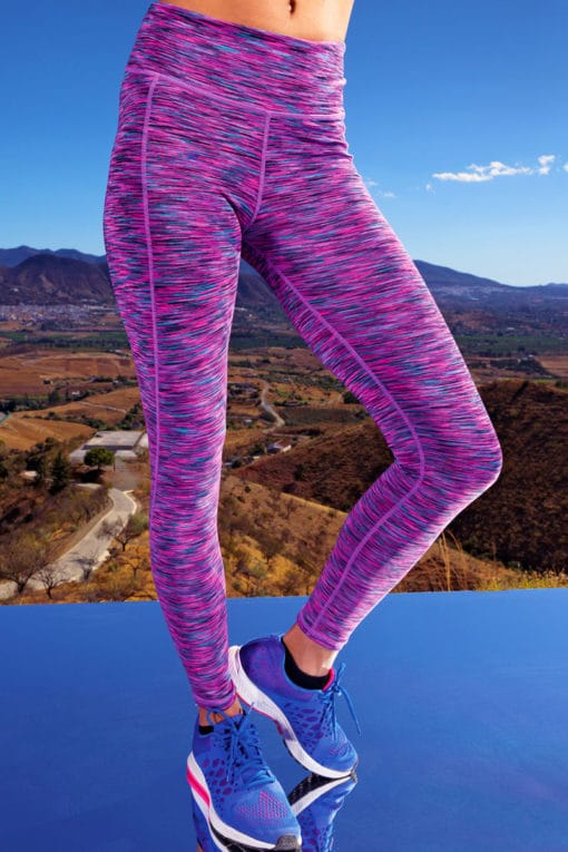 Womens Performance Space Pink Leggings