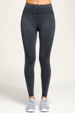 Womens Seamless 3D Fit Multi Sport Black Denim Look Leggings
