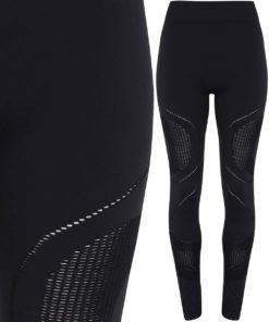 Womens Seamless 3D Fit Multi Sport Reveal Black Leggings