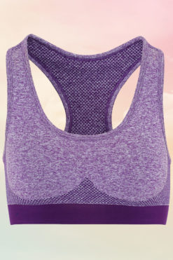 Womens Seamless 3D-Fit Multi-Sport Sculpt Purple Sports Bra