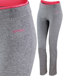Womens Sport Grey Marl Hot Coral Fitness Trousers