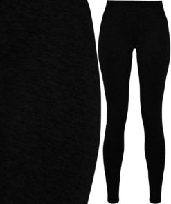 Womens Stretch Jersey Black Leggings