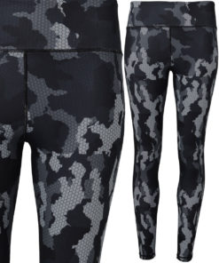 Womens TriDri Performance Camo Charcoal Hexoflage Leggings