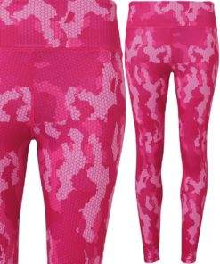 Womens TriDri Performance Camo Hot Pink Hexoflage Leggings