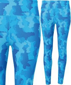 Womens TriDri Performance Camo Sapphire Hexoflage Leggings