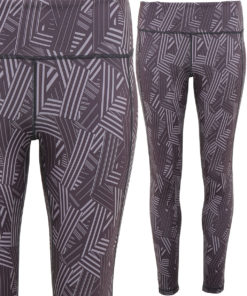 Womens TriDri Performance Crossline Charcoal Leggings Full Length