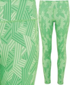 Womens TriDri Performance Crossline Green Leggings Full Length