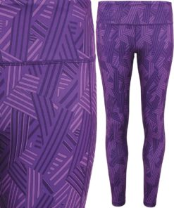 Womens TriDri Performance Crossline Purple Leggings Full Length