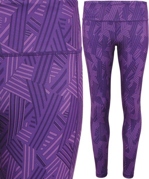 Womens TriDri Performance Crossline Purple Leggings Full Length