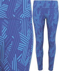 Womens TriDri Performance Crossline Royal Blue Leggings Full Length