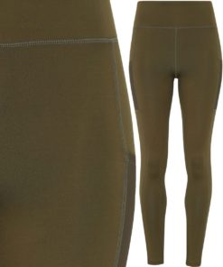 Womens TriDri Performance Olive Compression Leggings