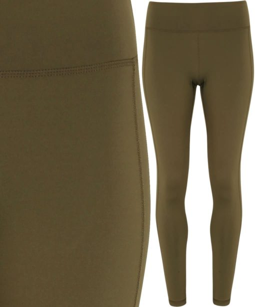 Womens TriDri Performance Olive Leggings