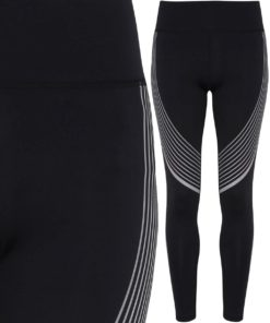 Womens TriDri Performance Reflective Black Leggings