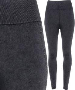 Womens TriDri Seamless 3D Fit Multi Sport Black Denim Look Leggings