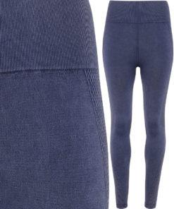 Womens TriDri Seamless 3D Fit Multi Sport Indigo Denim Look Leggings