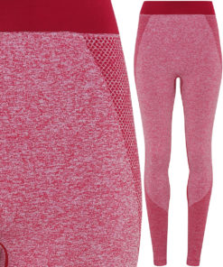 Womens TriDri Seamless 3D Fit Multi Sport Sculpt Burgundy Leggings