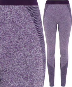 Womens TriDri Seamless 3D Fit Multi Sport Sculpt Purple Leggings