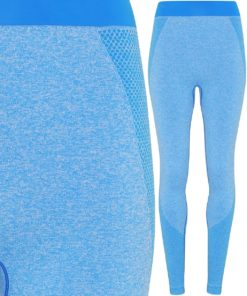 Womens TriDri Seamless 3D Fit Multi Sport Sculpt Sapphire Leggings